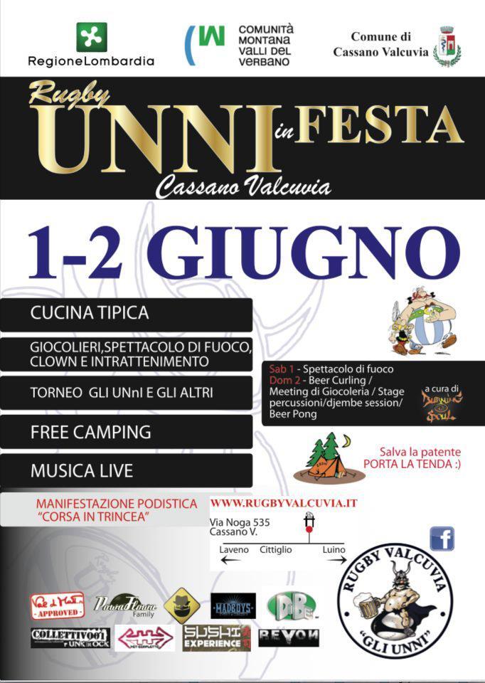 LOCANDINA UNNI IN FESTA 01-02 GIUGNO 2013