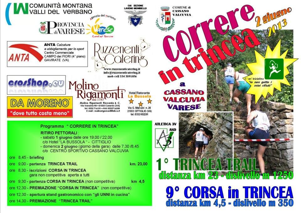 Locandina 9^ Corsa in Trincea - 2 Giugno 2013