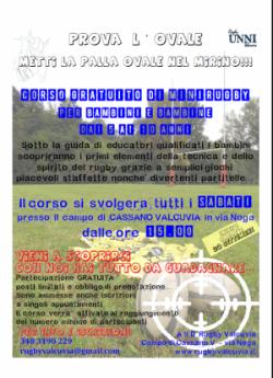 Locandina minirugby 2014